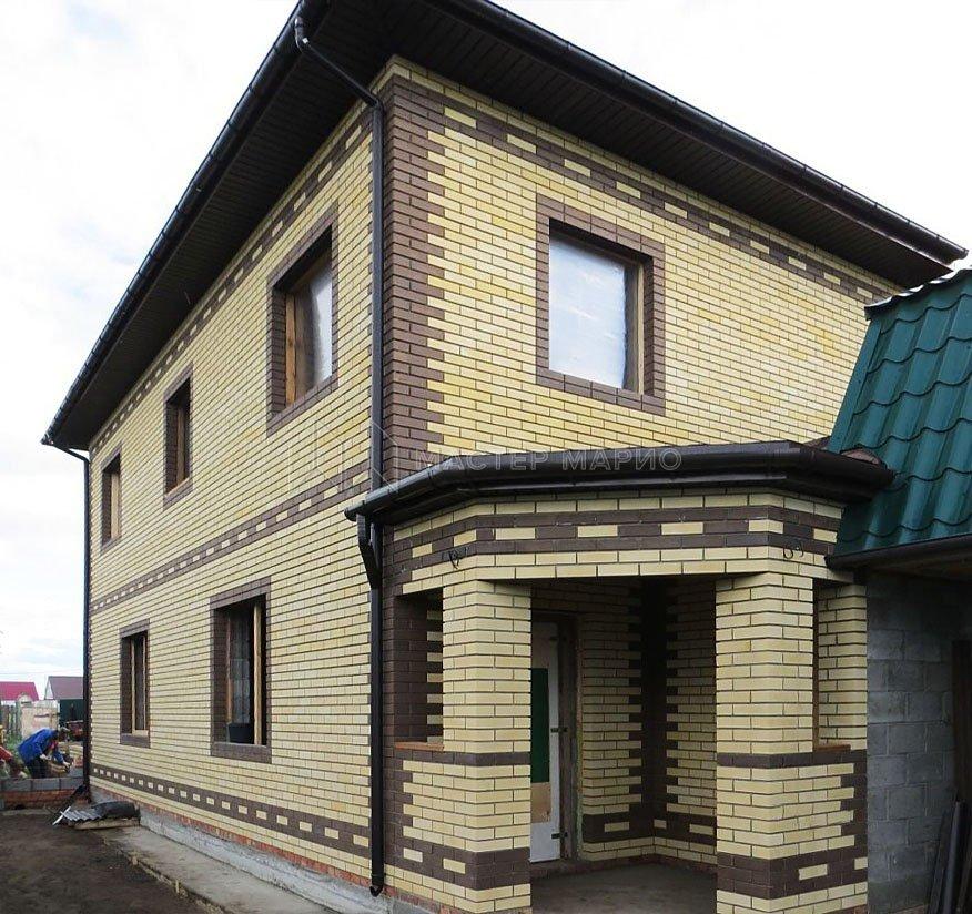 белый очень фото домов из желтого и коричневого кирпича груздей